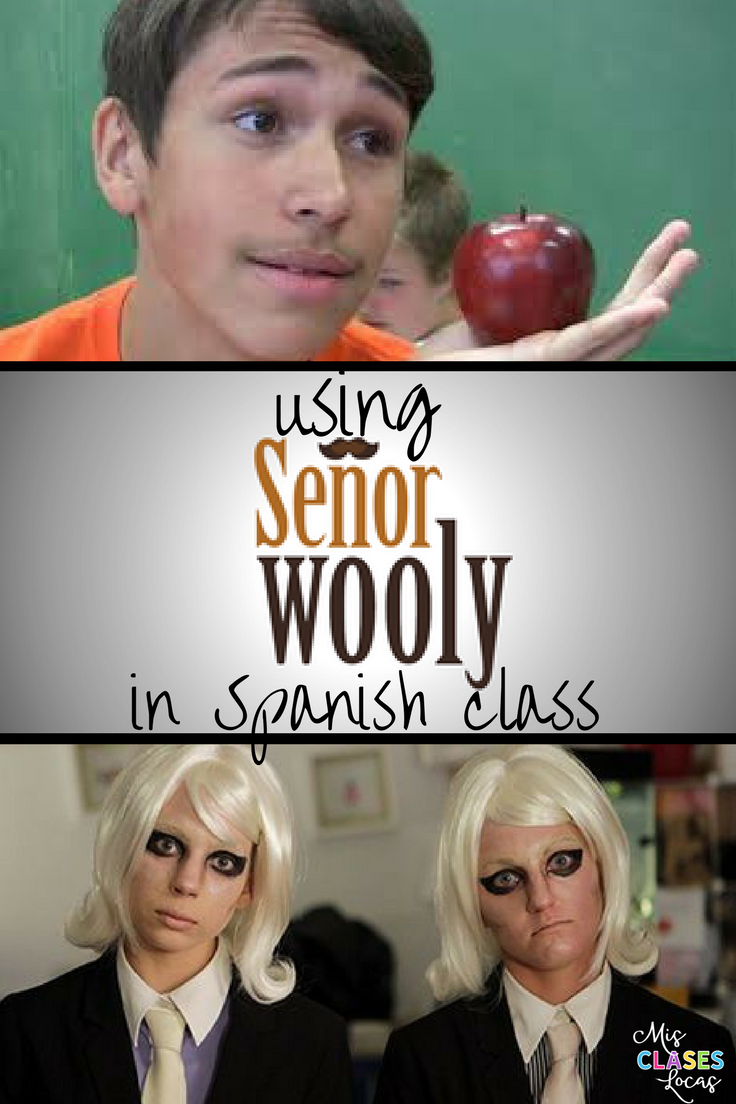 Using Sr. Wooly in Spanish Class #spanishthings
