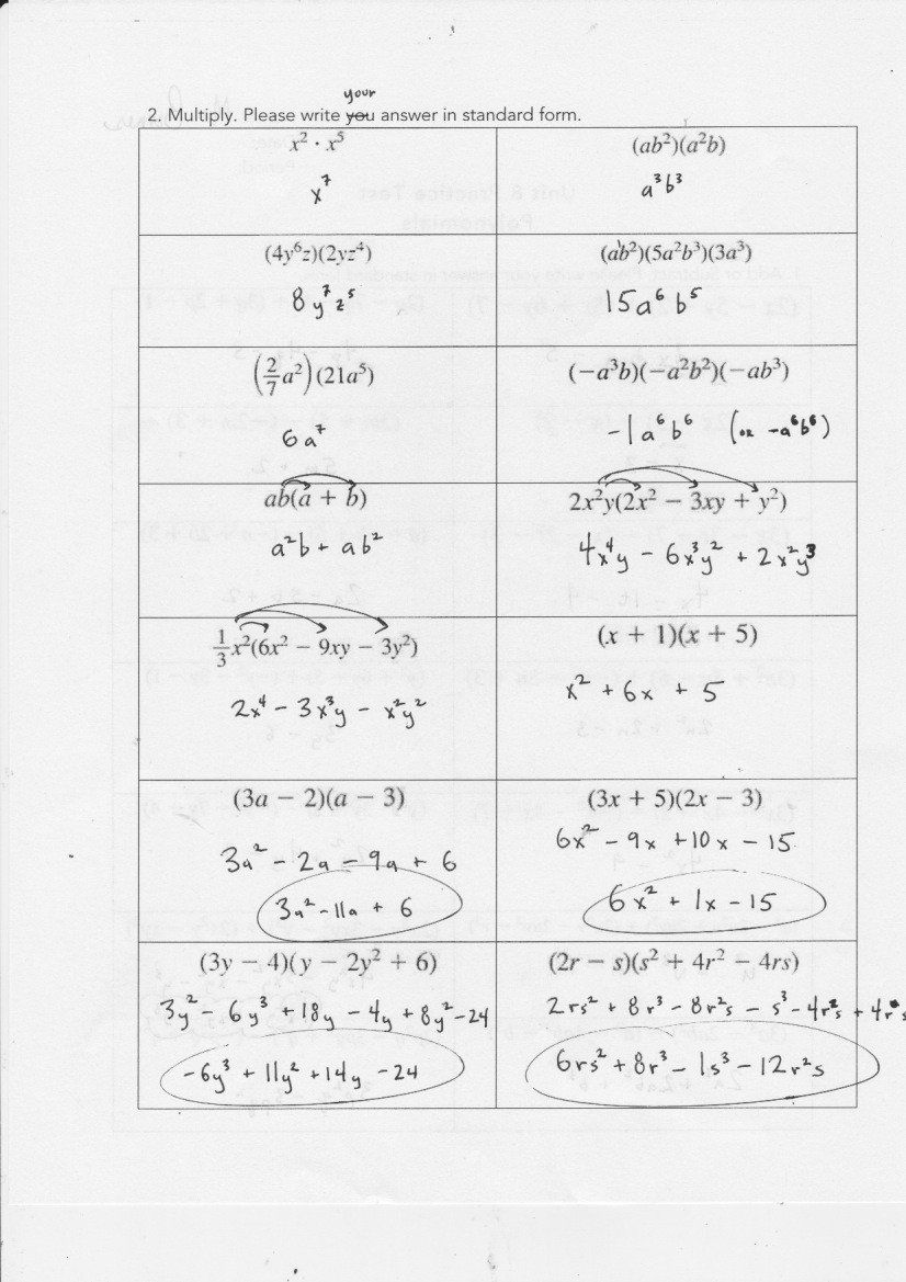 Factoring by Gcf Worksheet Yesterday S Work Units 7 & 8