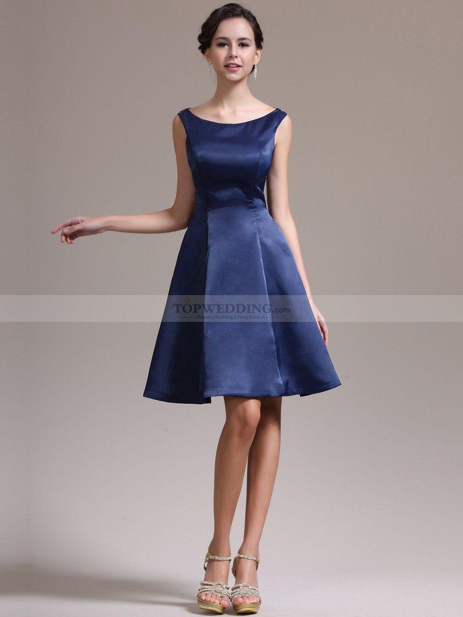 Vestido corte princesa azul