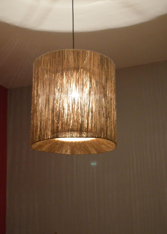 pendant bar lighting. Double Frame Twine Light , String Lamp Pendant Ceiling Eco-friendly . Bar Lighting Art Deco Office Shadow By FourSeasonsCreations