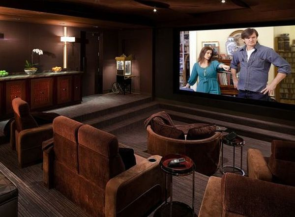 Elegant 15 Cool And Minimalist Home Theater Design With Sofa Furnitures | Home  Design And Interior