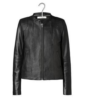 Veste cuir esprit motard noir by GERARD DAREL