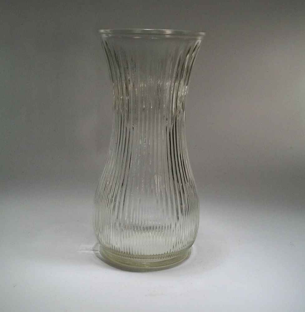 Clear hoosier glass 4087 a decorative vase 9 34 t 5 w flared clear hoosier glass decorative vase 9 t w flared top ribbed reviewsmspy