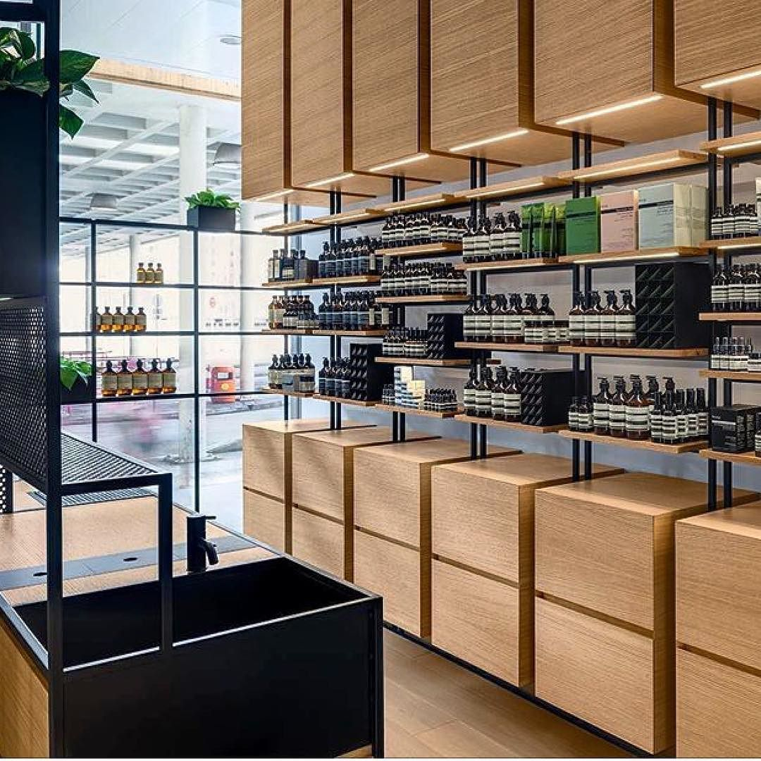 R e t a i l aesopskincare hongkong by for Interior design negozi