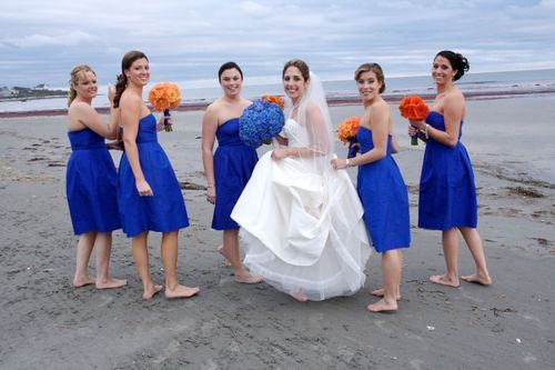 I Like That Blue On The Dresses With Orange Those Are My Wedding Colors