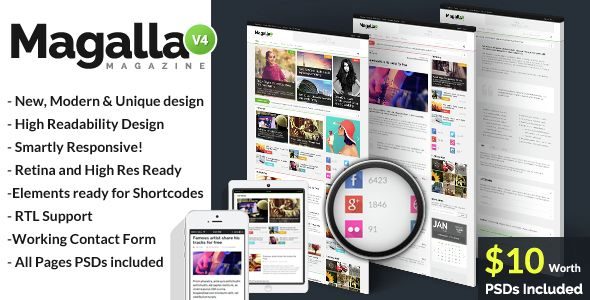 Magalla Magazine, News and Business Blog HTML Website-Templates
