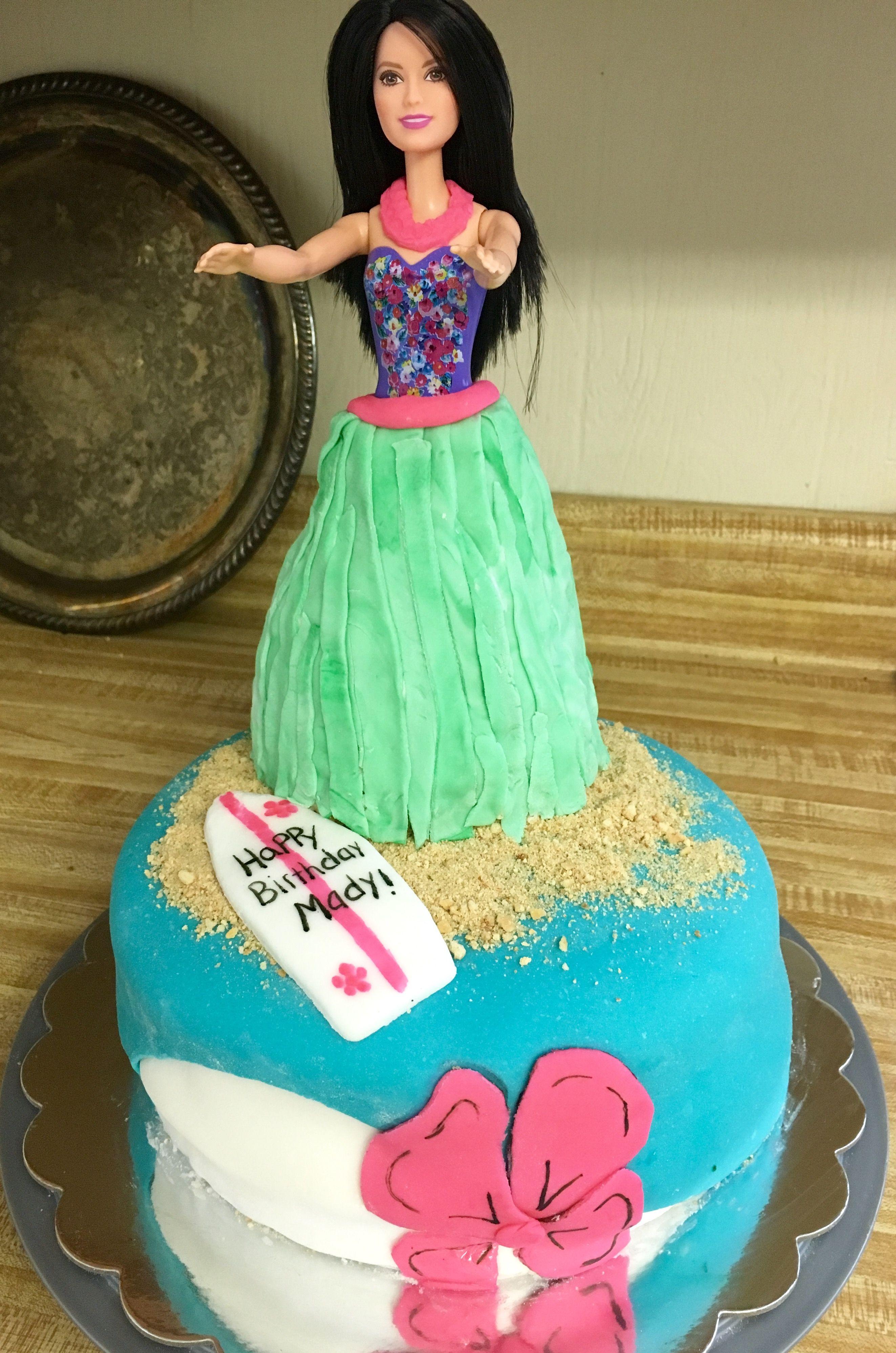 Hula barbie birthday cake barbie birthday cake barbie