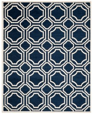 Safavieh Amherst Indoor/Outdoor AMT411B Light Grey/Ivory 6' x 9' Area Rug - Navy/Ivory