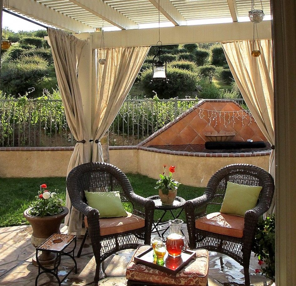 Outdoor Patio Curtain Ideas - Home Design Ideas and Pictures