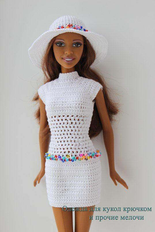 Одежда для кукол крючком и прочие мелочи | barbie ropa | Pinterest ...