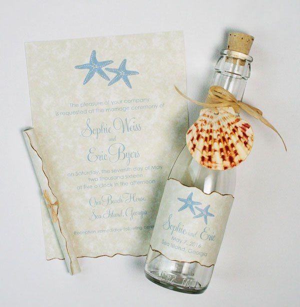 wedding invitations ideas | beach wedding invitations starfish theme design