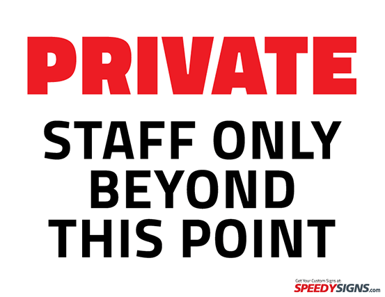 Free Private Staff Only Beyond This Point Printable Sign Template - Office door signs templates