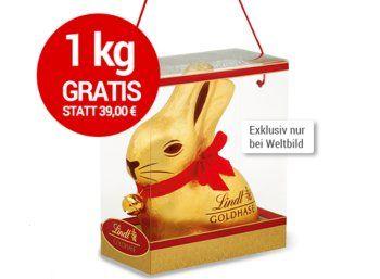 """Gratis: Kilo-Goldhase bei Lindt für neue Mitglieder im """"Chocoladen Club"""" https://www.discountfan.de/artikel/essen_und_trinken/gratis-kilo-goldhase-bei-lindt.php Via Weltbild gibt es jetzt beim """"Lindt Chocoladen Club"""" einen Goldhasen mit ein Kilogramm Gewicht komplett gratis – wenn man sich für mindestens zwei Monate an den süßen Club bindet. Discountfan.de hat nachgerechnet. Gratis: Kilo-Goldhase bei Lindt für neue Mitglieder im &#8... #Pralinen, #Sc"""