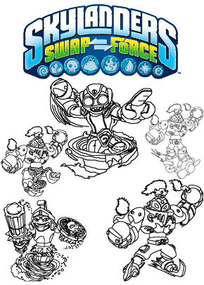 Print Free Colouring Sheets With Skylanders Swap Force Characters