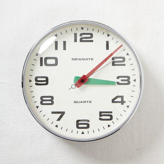 Newgate Wall Clock - West Elm Technology Pinterest Uhren und - küchen wanduhren design