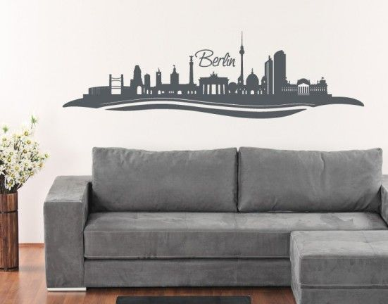 Berlin Skyline Wall Decal, Berlin Skyline Wall Sticker,Berlin Skyline Wall Tattoo.Bring Germany closer to home with the Berlin Skyline wall decal from Style and Apply.