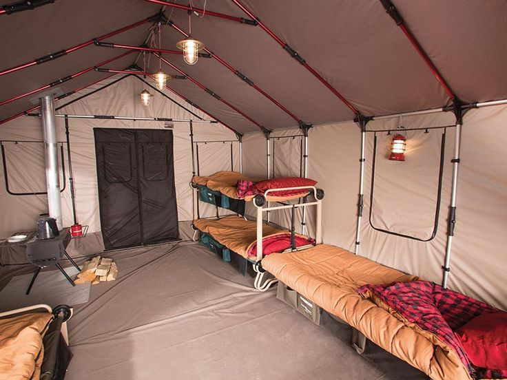 Comfort hunting camp the wonder of camping for Woods prospector tent