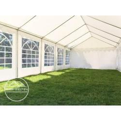 Photo of Carpa para fiestas de 4×8 m, lona de PVC de 500 g / m², carpa de jardín verde y blanca, carpa, pabellón Toolport