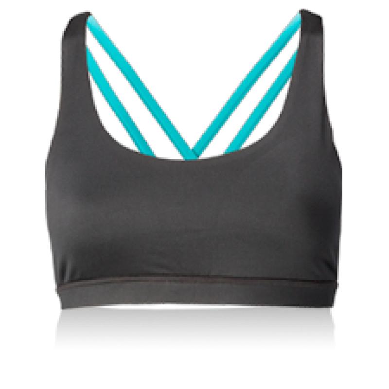Nfinity Teal Cross Back Sports Bra Sports bra top, Bra