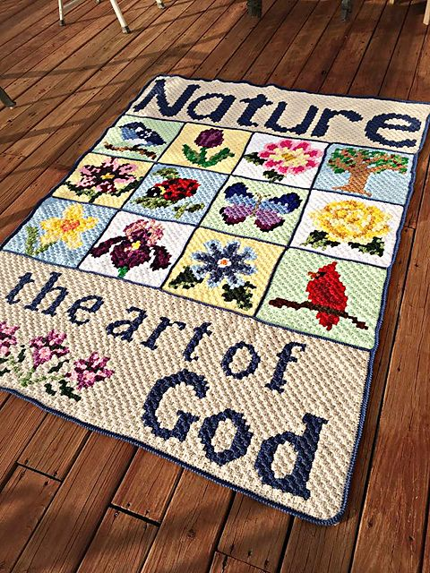 Nature Blanket C2C CAL free crochet pattern, first post: http ...