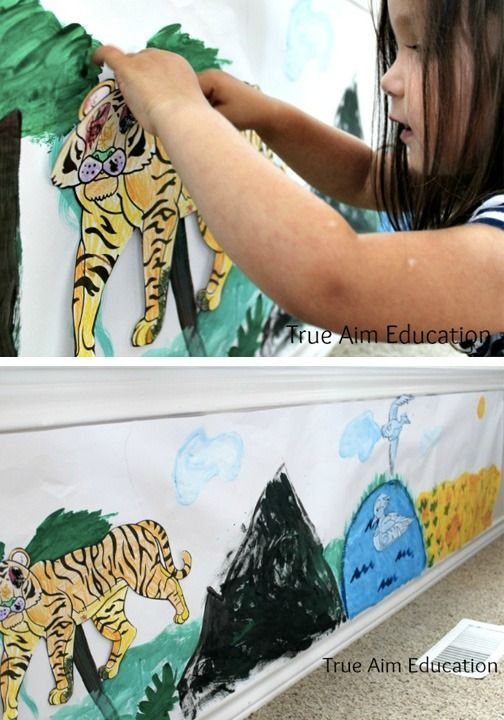 Its never too early to start planning some summer projects for your kids Crafts can occupy your childrens minds and guide their creativity This Animal Mural is perfect an...