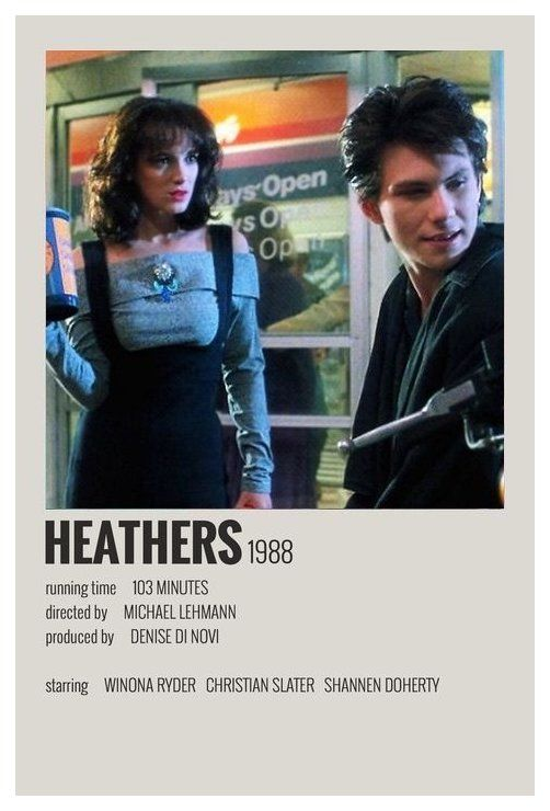 minimal movie posters heathers