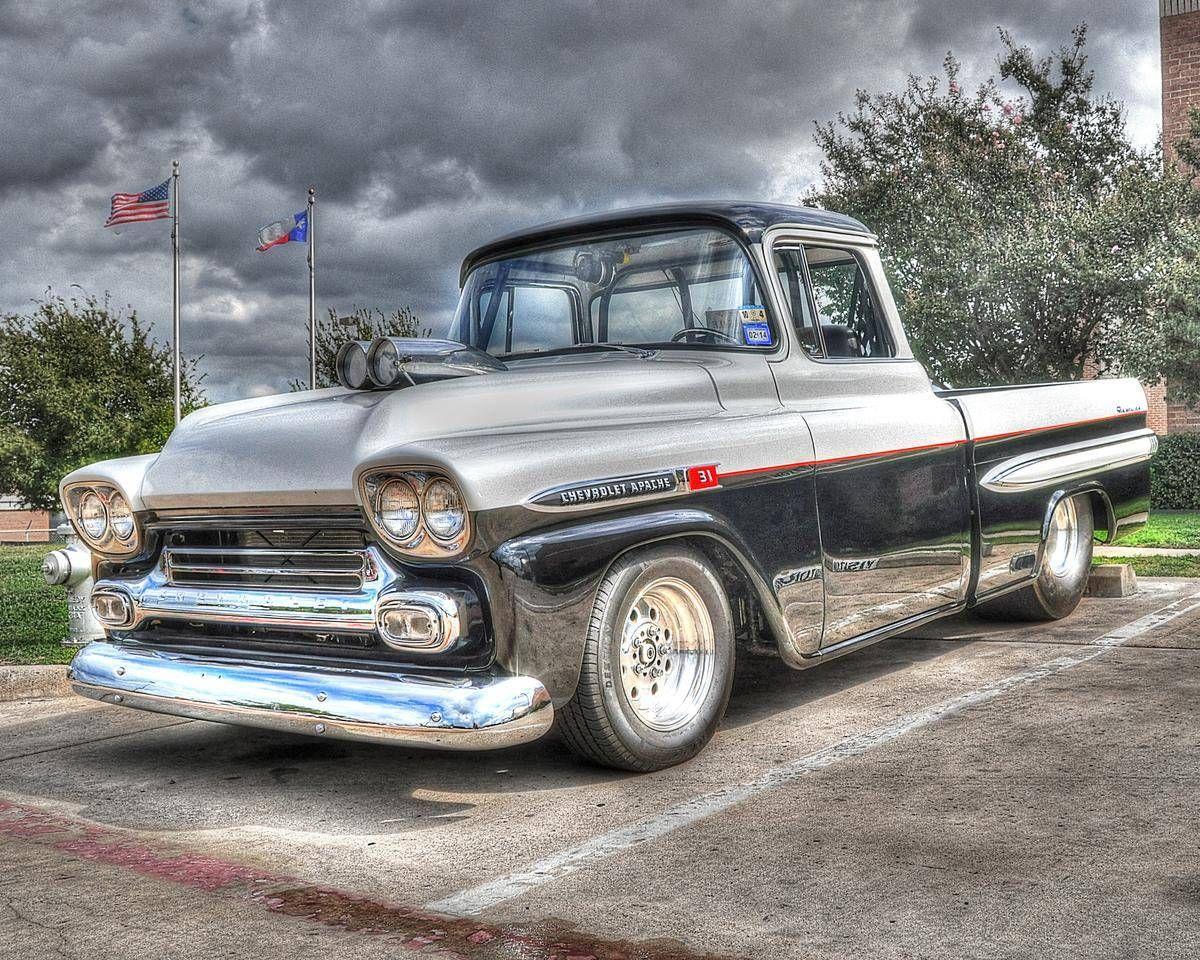 1959 Chevrolet Apache 35 Fleetside Www Rollin84z Com Chevrolet