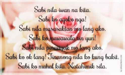 Tagalog Quotes About Love And Friendship Prepossessing 19 Beautiful Tagalog Love Quotes With Images  Quotes Images