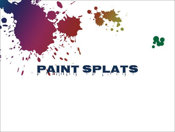Paint Splats PowerPoint Background Template by Deckologie on Etsy ...