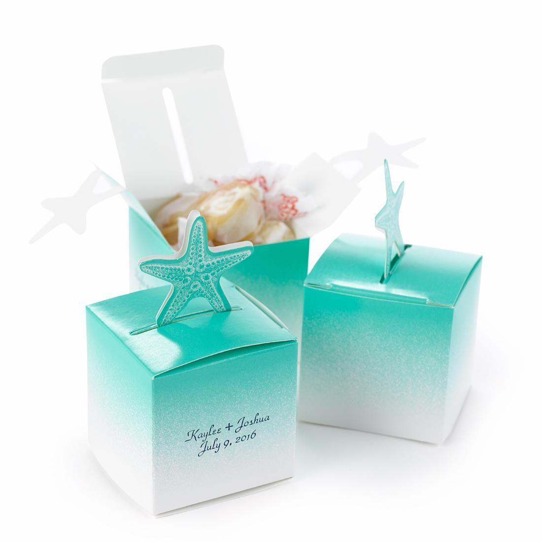 Starfish Wedding Favor Box Set Wedding Favor Boxes Starfish Wedding Favors Wedding Gift Favors
