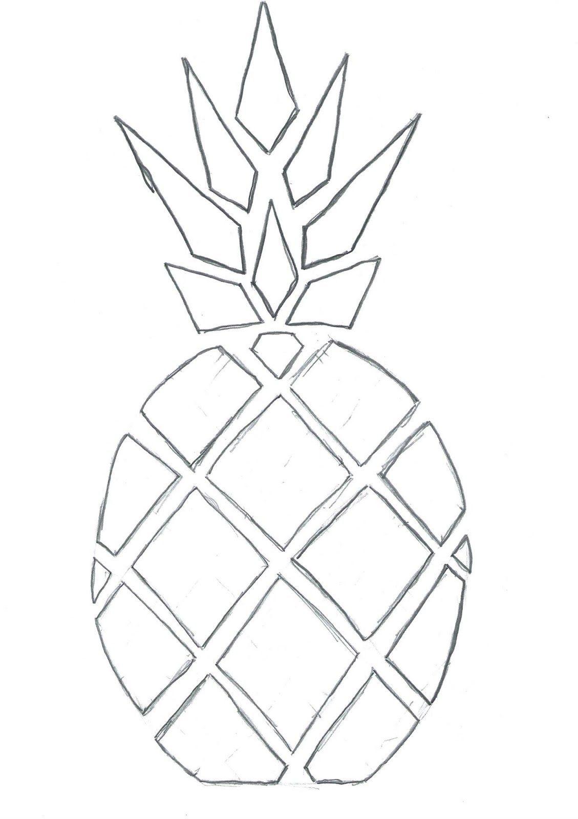 Ananas Rysunek bulles de cerises: diy top ananas (tuto inside) | rysunki