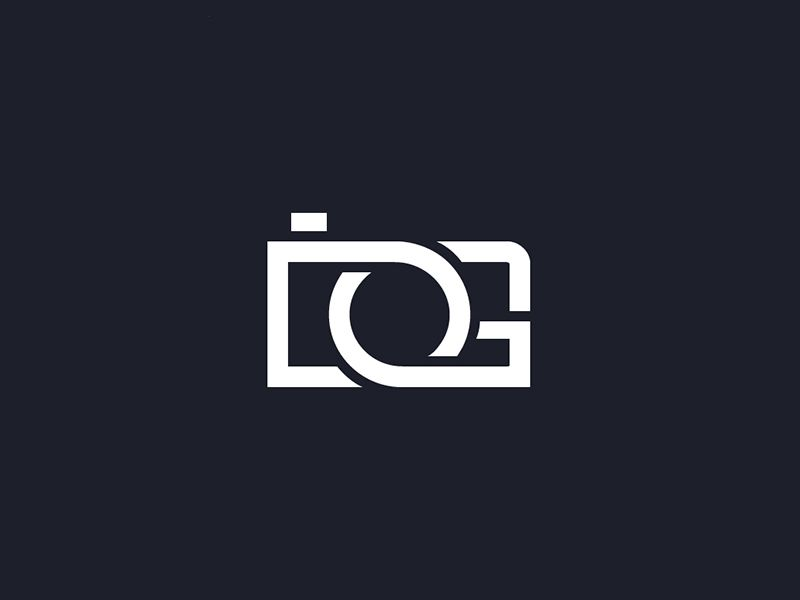 Extremely effective logo for dg photography the combination of the letters fit perfectly together to make a camera it is clear what the image is