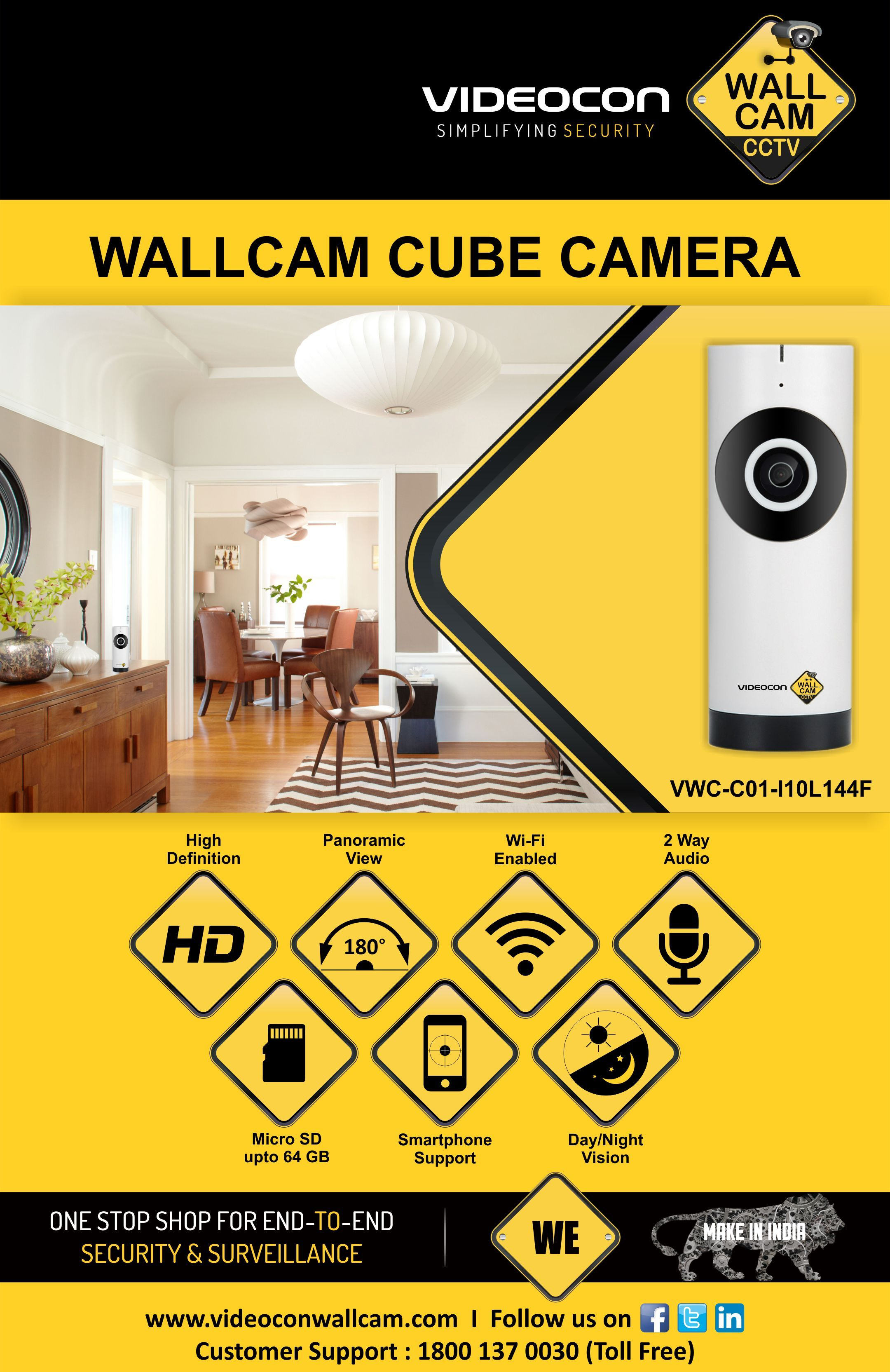 Videocon Wallcam Wifi Camera A Perfect Security Cctv For Home Diy 30 Watt Stereo Amplifier Circuit Gadgetronicx