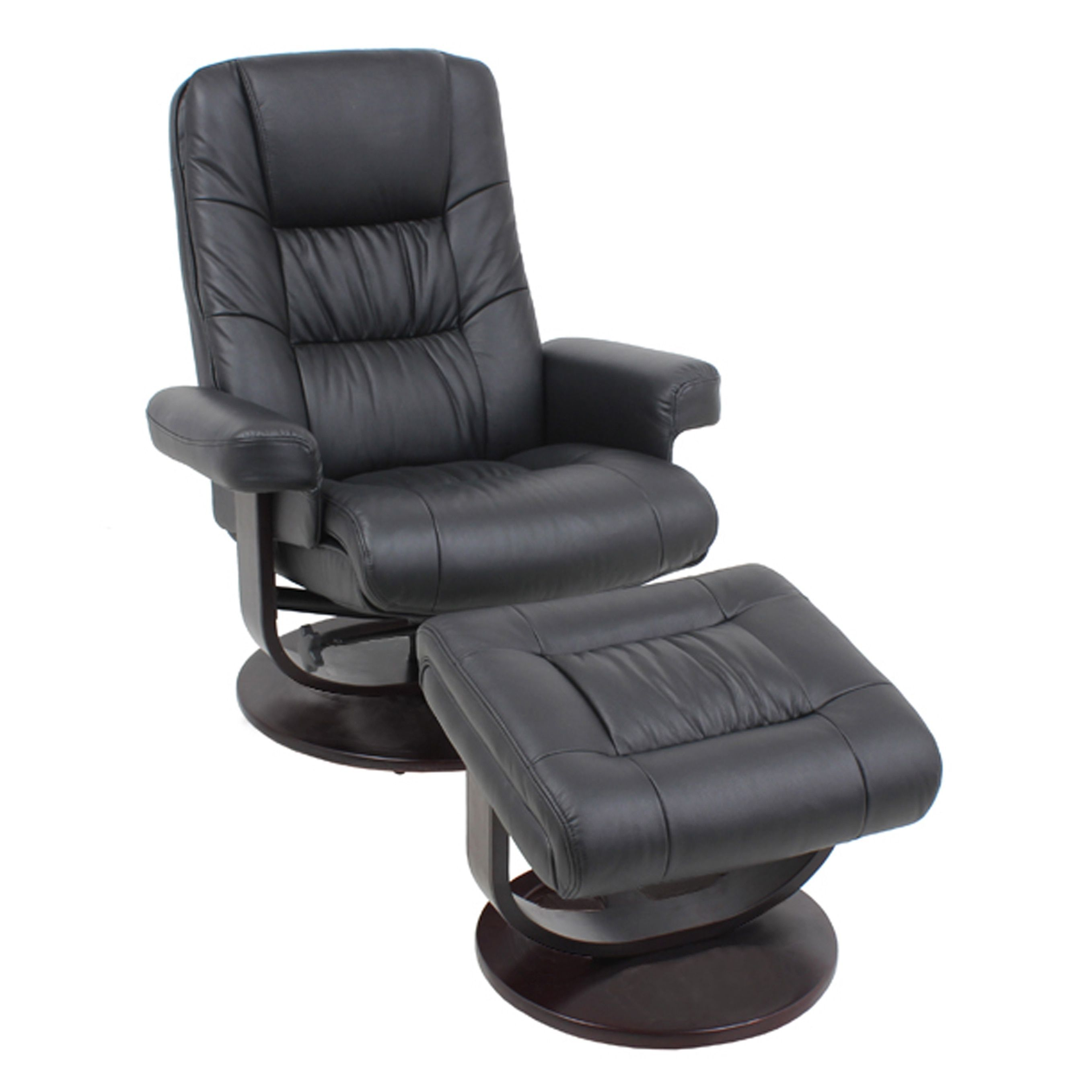Barcalounger Global Office Furniture Wood And Leather Recliner