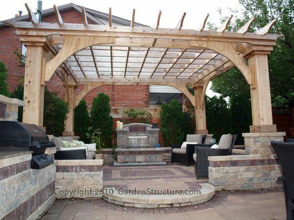 Photo of The Monterey Pergola Plan – GardenStructure.com