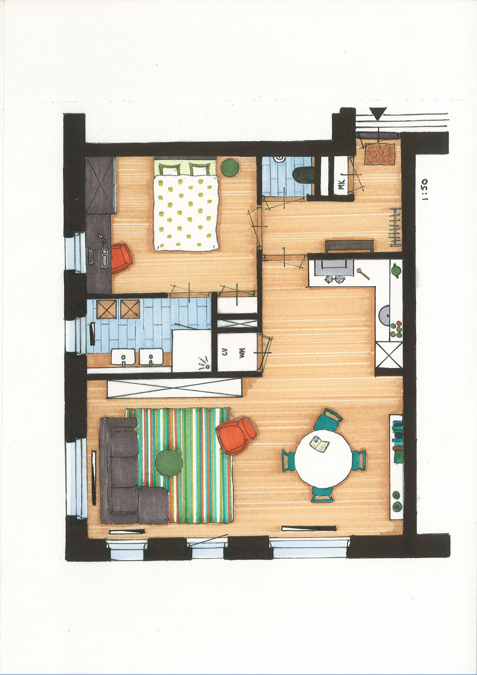 Plattegrond in opdracht ovom starters woningen sims 3 huizen pinterest - Interieur van een huis ...