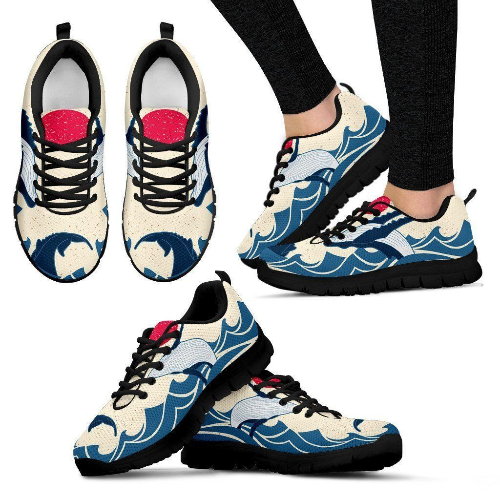 Humpback whale sneakers humpback whale print sneakers