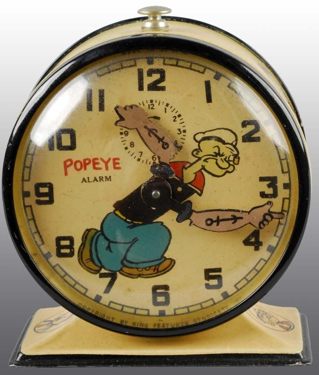 Popeye Clock Tick Tock Pinterest Clocks Spinach