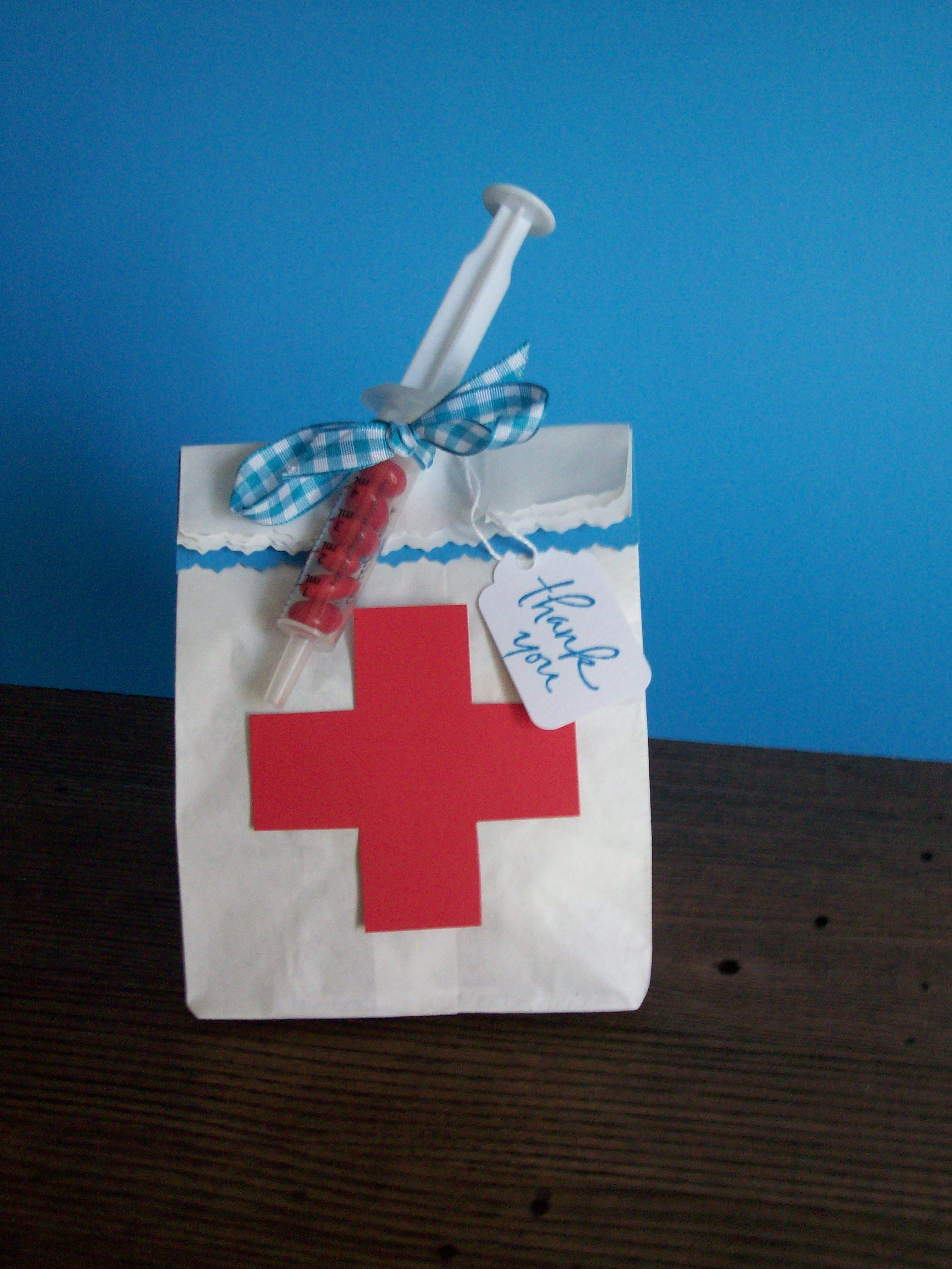 Gift bags for nurse party my fabulous creations pinterest gift bags for nurse party negle Image collections