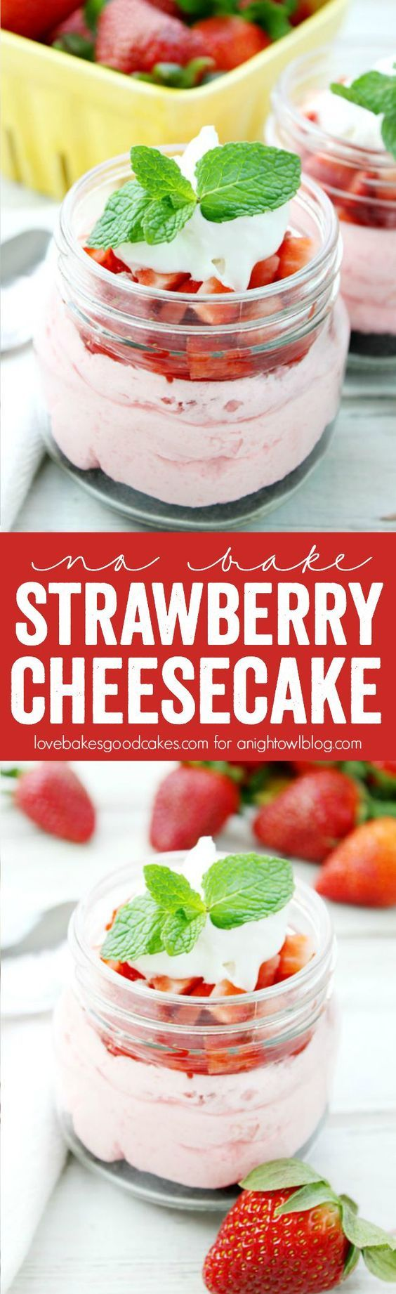 This No Bake Strawberry Cheesecake recipe is perfect for dessert! Easy to make and delicious!