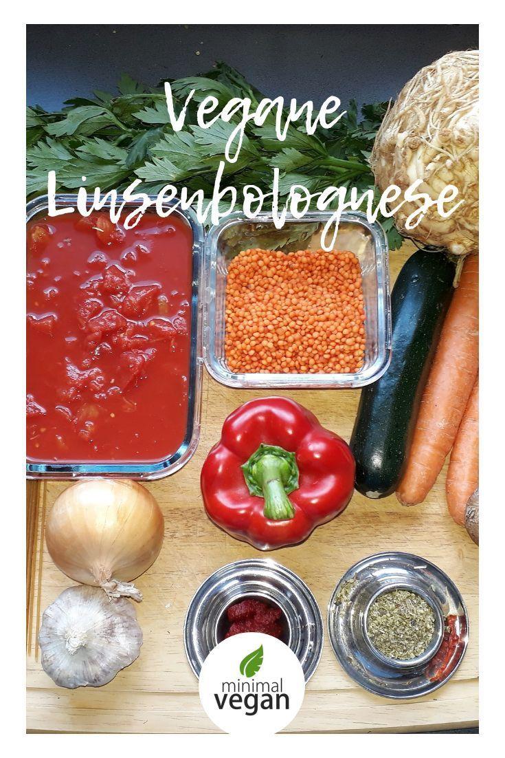 Rezept für vegane Linsenbolognese - schnell - einfach ...
