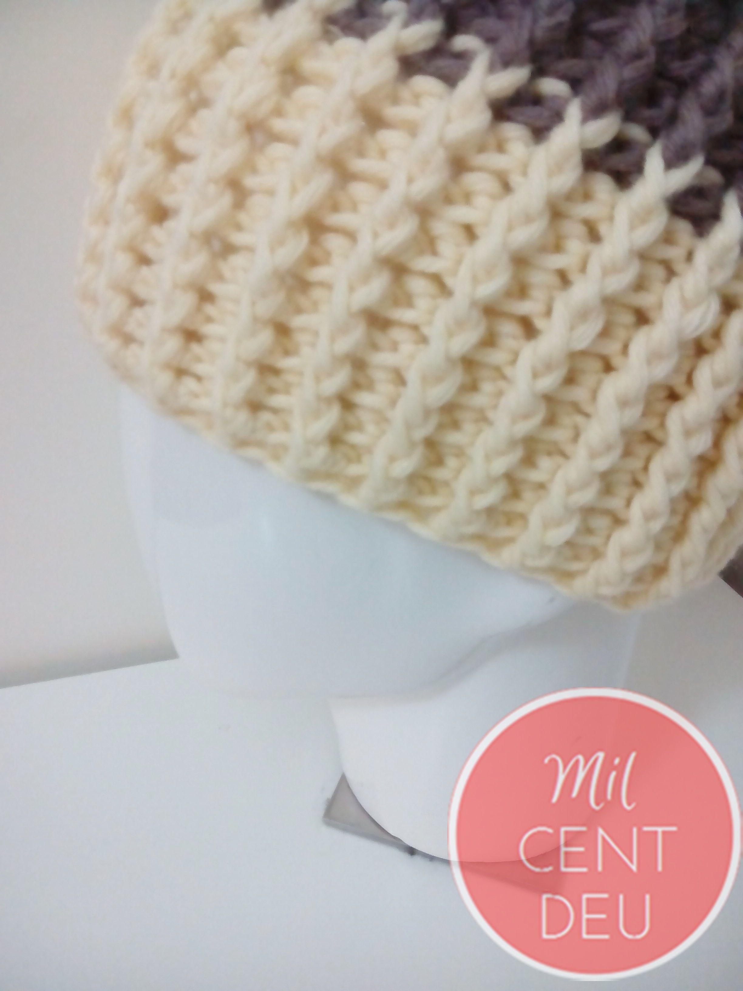 Nuevo modelo gorro crochet en beig   Crochet   Pinterest   Croché ...