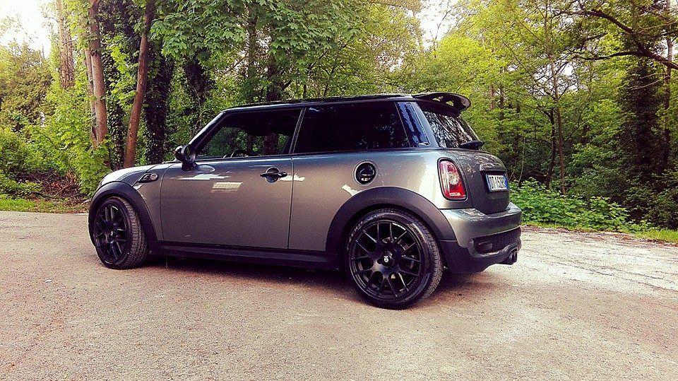 Mini Cooper S Dark Silver R56 Sparco Black Wheels