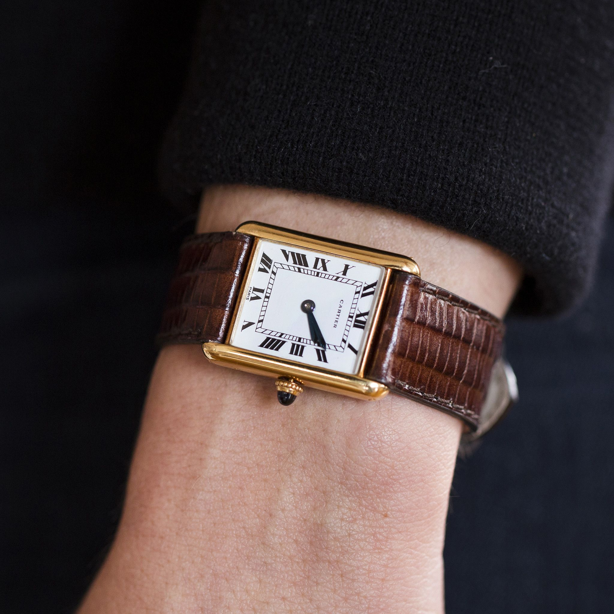 1972 Cartier Tank With Audemars Piguet Movement Cartier Watches Women Cartier Tank Cartier Watch