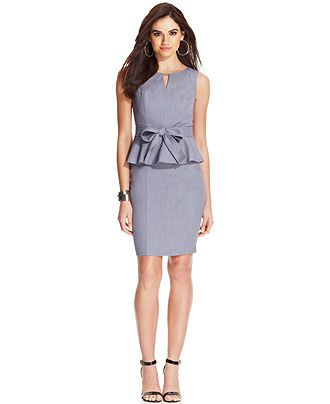 Xoxo Sleeveless Belted Peplum Dress All Suits Suit Separates