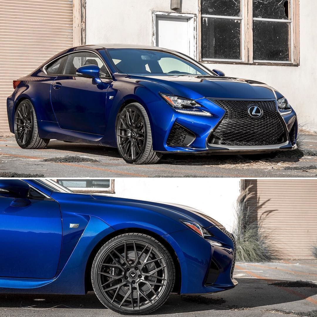 Ultrasonic blue mica Lexus RCF coupe with new Flow