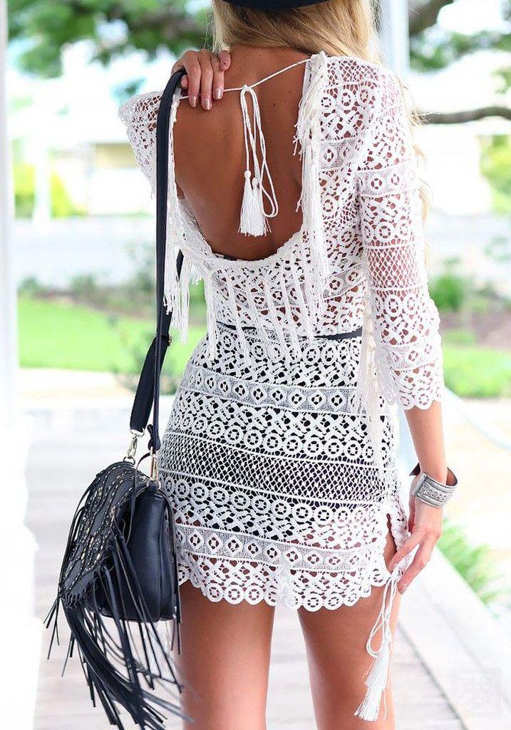 White Lace Tunic | Lookbook Store
