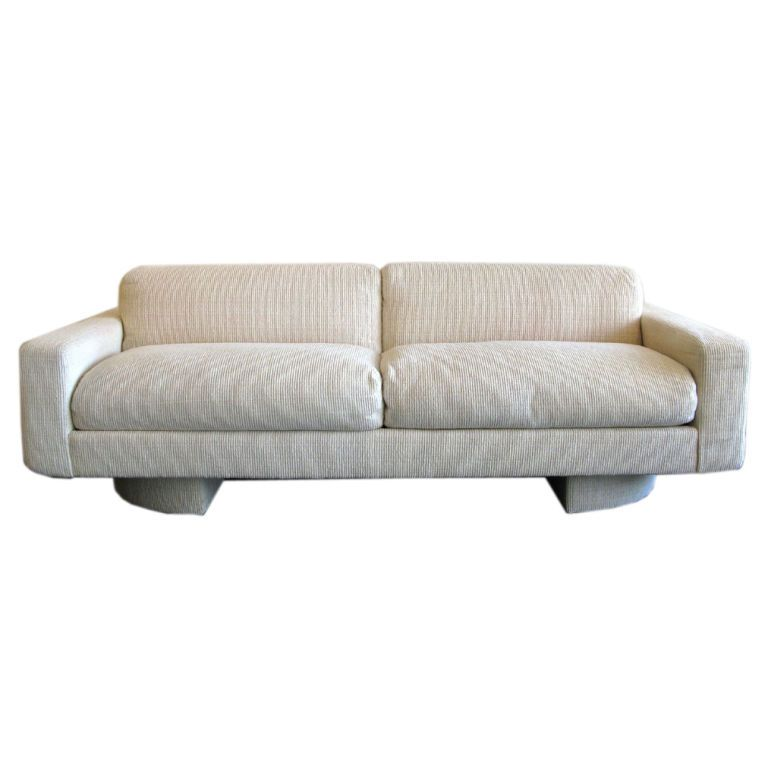 1stdibs Custom 1980s Down Filled Sofa By Directional Explore