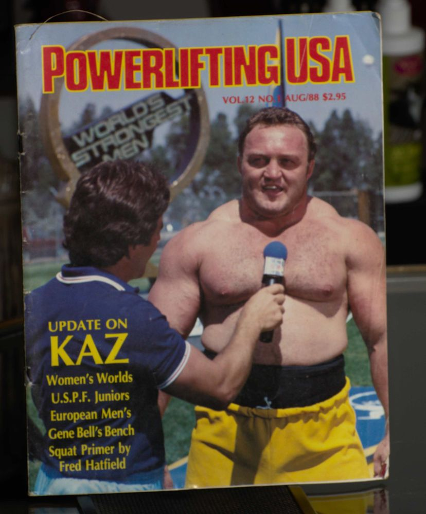 Strongest Bench Press: Powerlifting USA Magazine August 1988 Issue