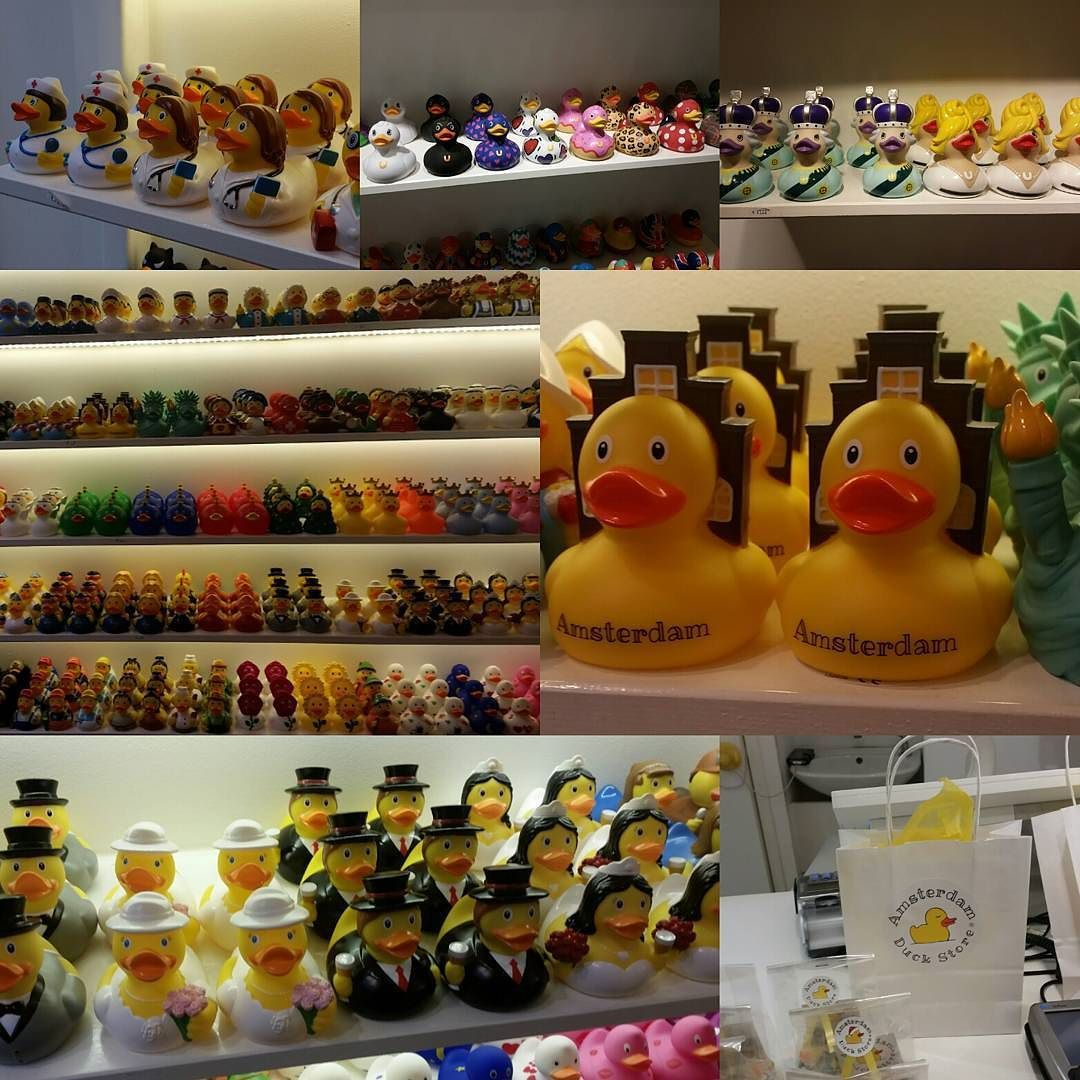 So the Amsterdam Duck Store is a thing! Just a store filled with ...